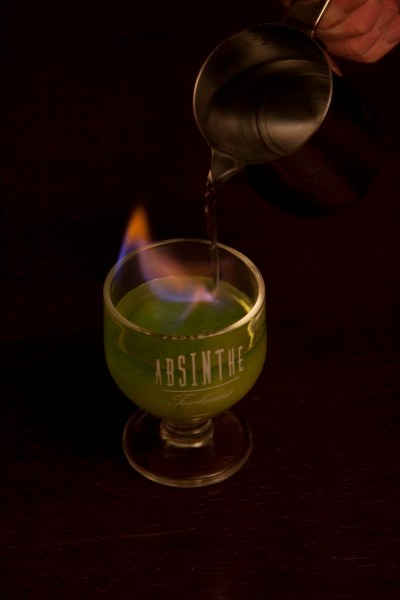 Pouring water on Flaming Green fairy