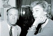 Henry Fonda con la quarta delle sue cinque mogli, la baronessa  italiana Afdera Franchetti (Grazia Neri)