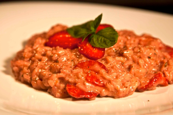 syntagi risotto me fraoules